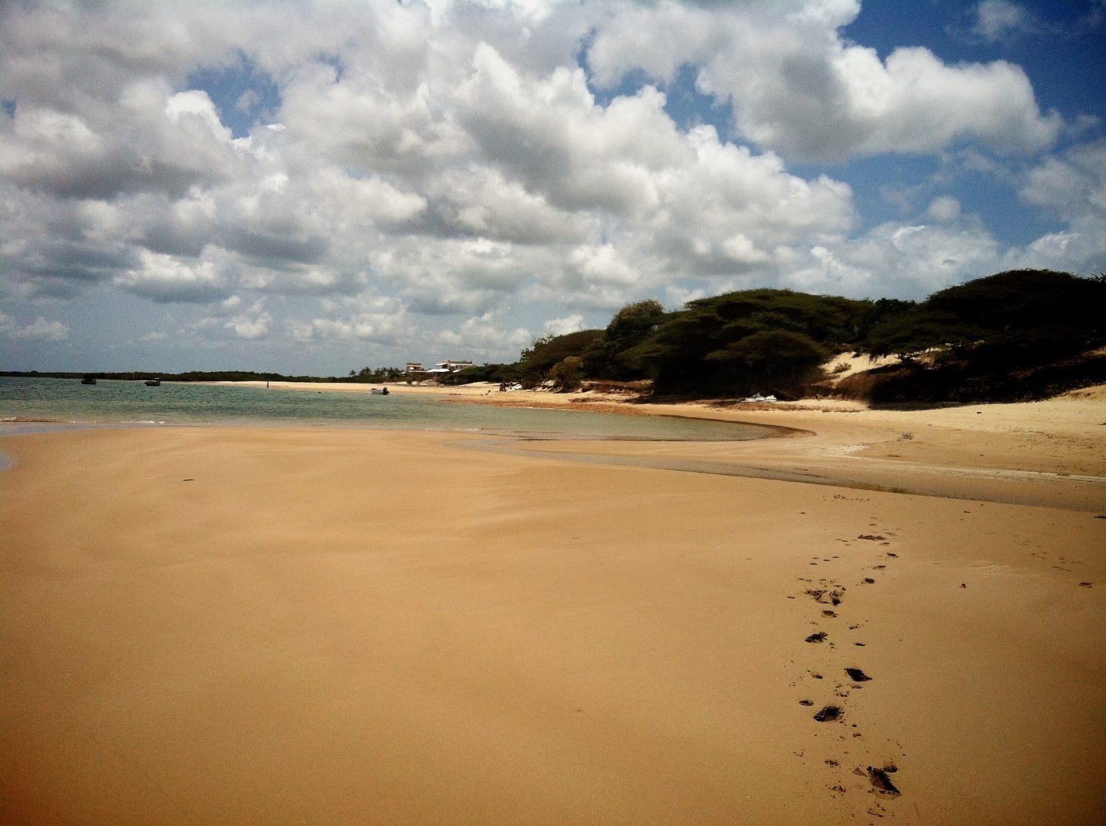 Manda Strand im Lamu Archipel in Kenia, Afrika