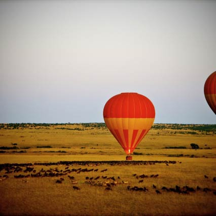 Heißluftballon-Safari über der Masai Mara, Kenya