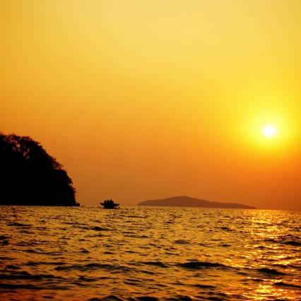Sonnenuntergang über dem Malawisee