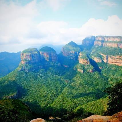 Three Rondavels in Südafrika