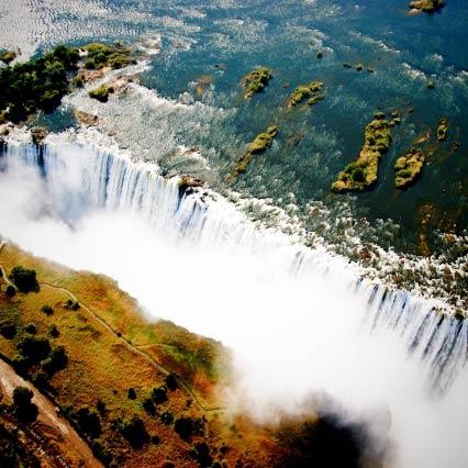 Victoriafälle in Simbabwe und Sambia