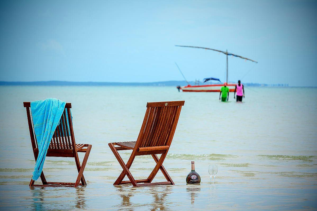 Strandurlaub in Vilankulo (oder Vilanculos). Inhambane Province. Mosambik