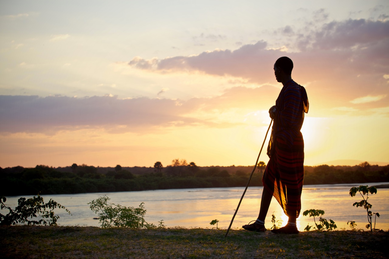 Sundowner Safari with a Masai at Rufiji River Camp, Selous National Park, Tanzania