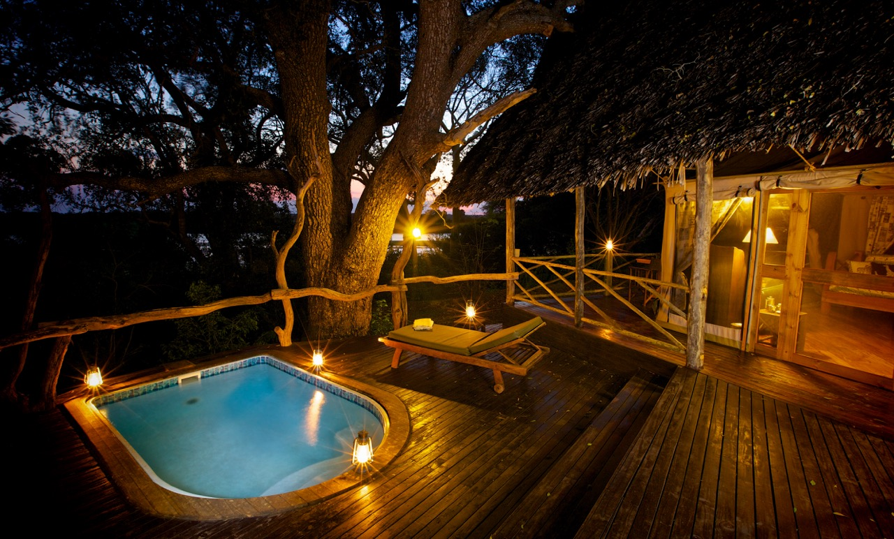Pool at Rufiji River Camp, Selous National Park, Tanzania