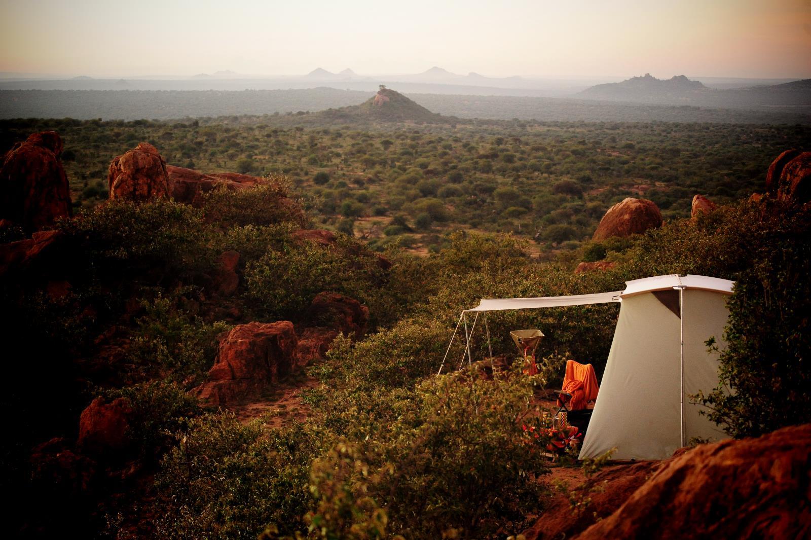 Safari und Busch Camping in Laikipia, Kenia