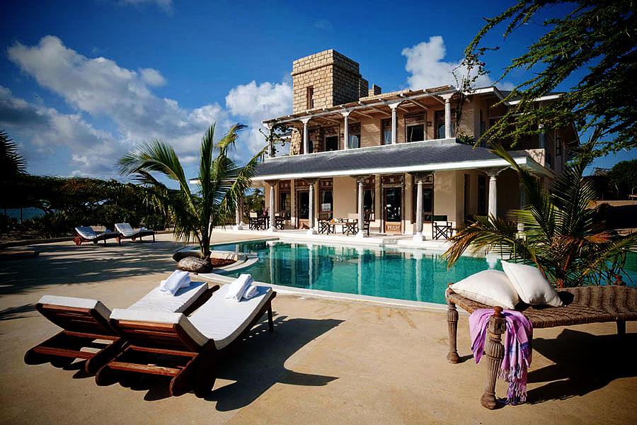 Das Majlis Resort im Lamu Archipel in Kenia, Afrika