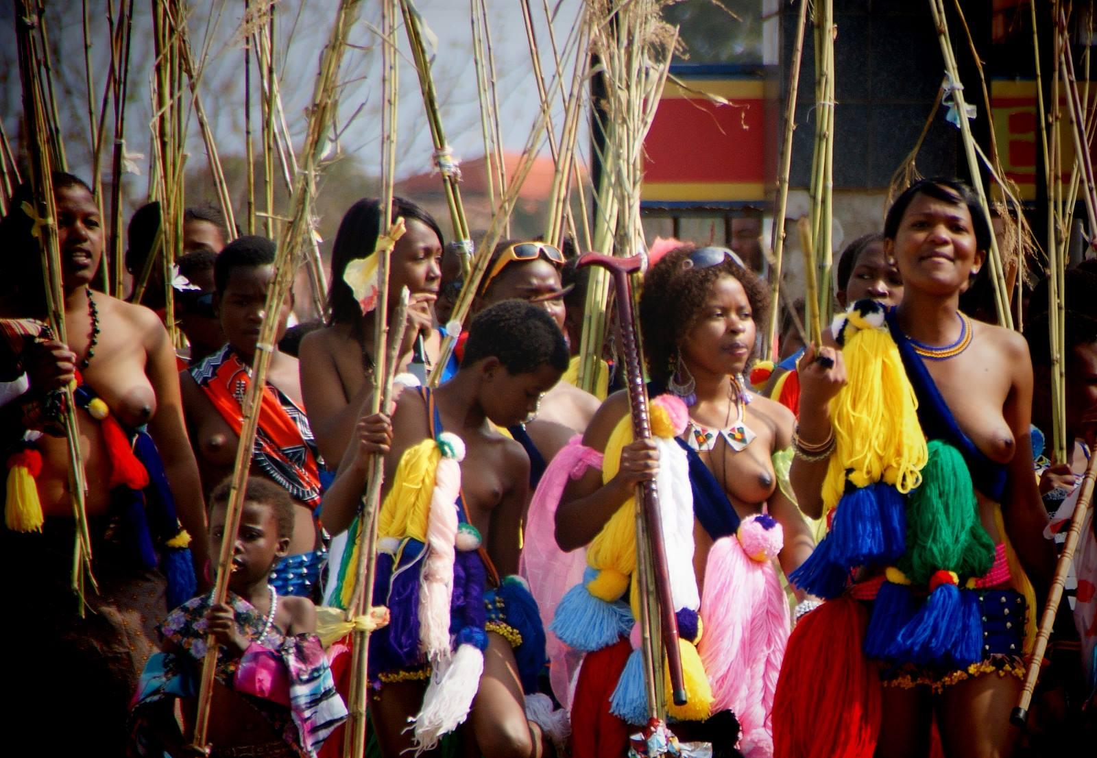 Umhlanga Reed Dance, Swaziland, Südliches Afrika, Ezulwini, King Mswetu