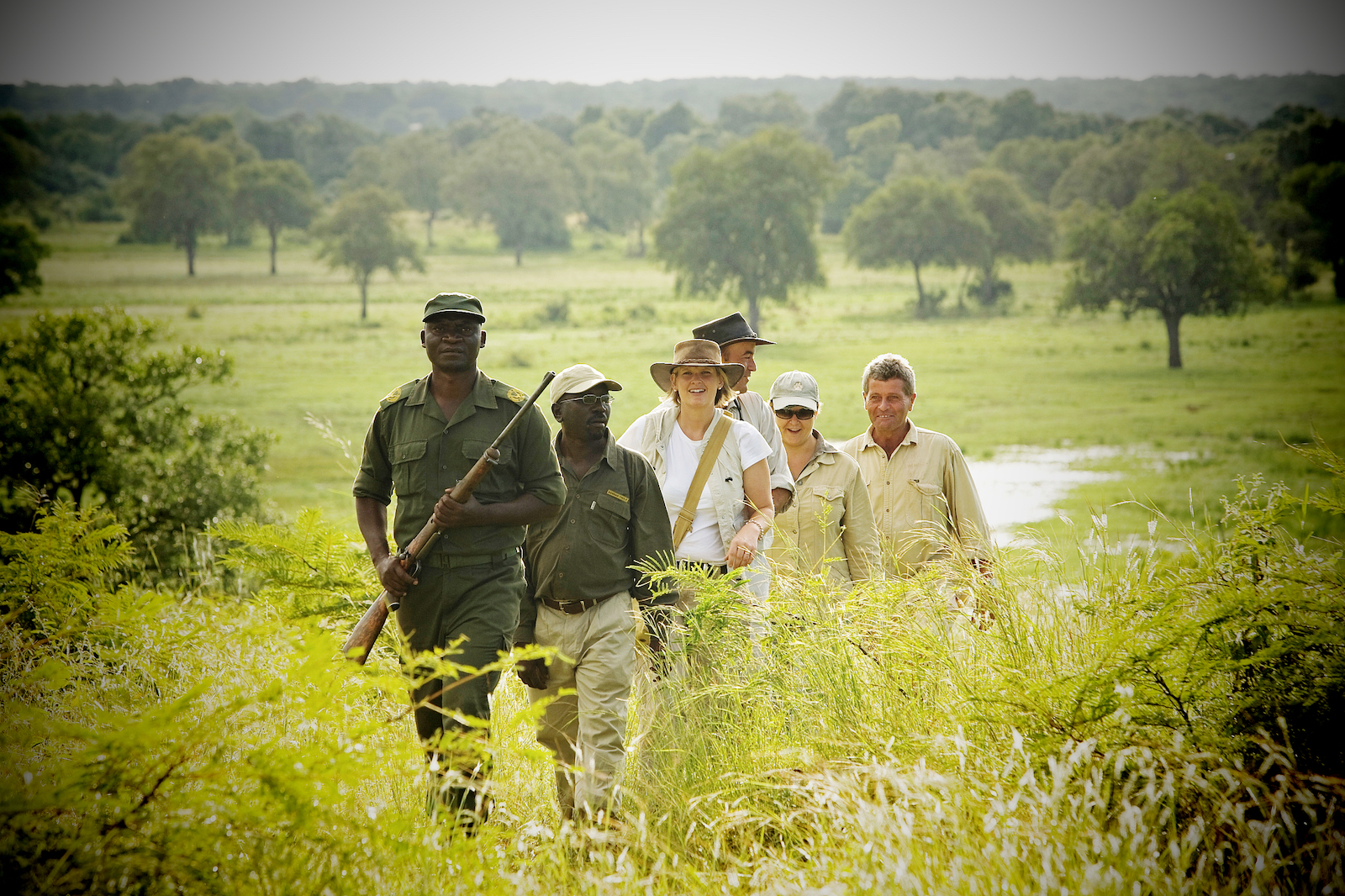 Buschwanderungen und Wander-Safari durch South Luangwa, Puku Ridge Camp, Sambia