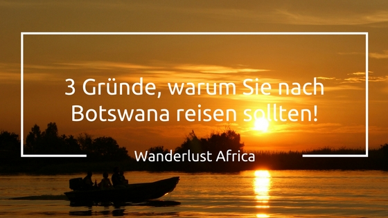 Sonnenuntergänge in Botswana