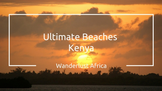 Sunset at beaches in Kenya