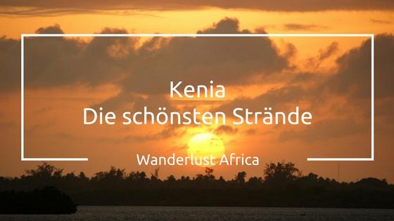 Sonnenuntergang an den schönsten Stränden Kenias