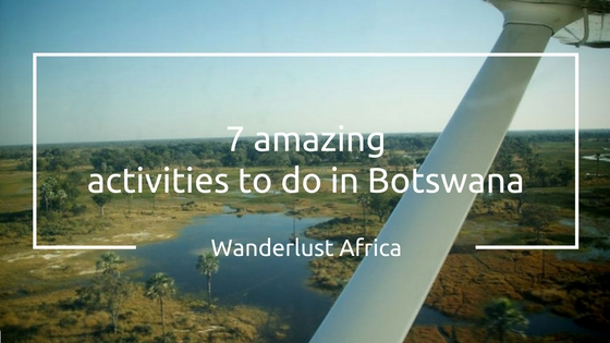 Things to do in Botswana: Fly over the Delta