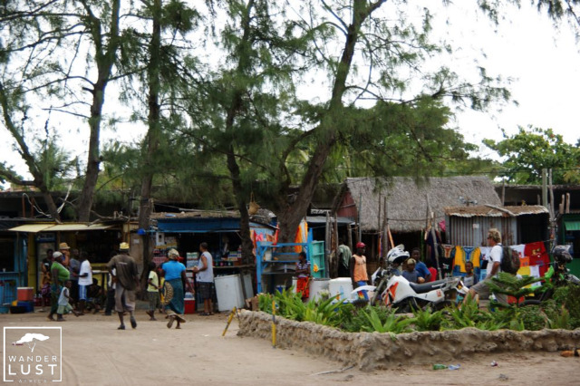 Market Shopping in Tofo Beach Mozambique