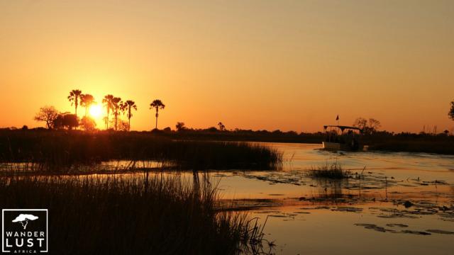 Traumhafte Sonnenuntergänge in Botswana