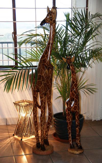 Wundervolle handgeschnitzte Giraffen von Swasiland