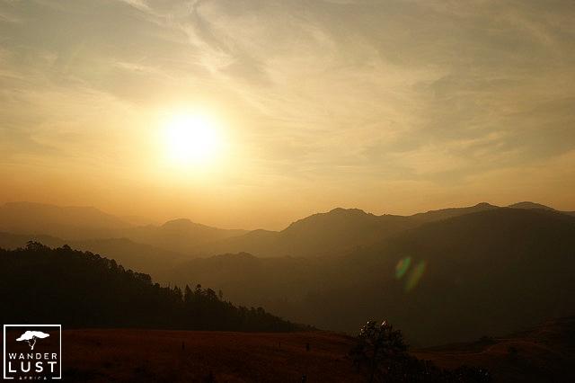 Sonnenuntergang im Mlilwane Nationalpark Swasiland