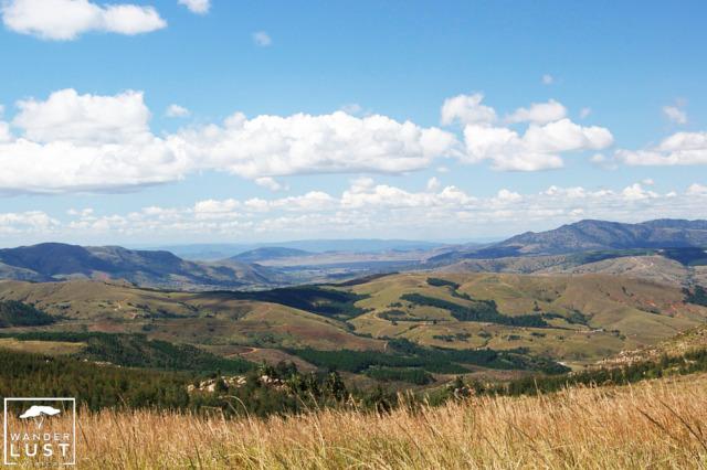Scenic landscape of Swaziland