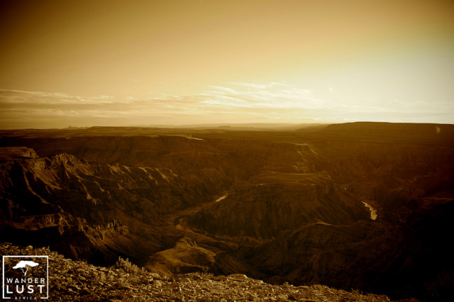Fish River Canyon in the sunset
