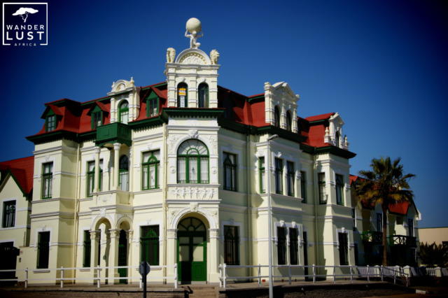 The famous Hohenzollern Building in Namibia