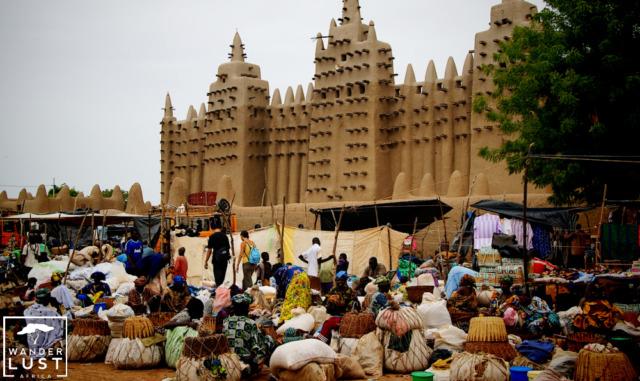 Der Montagsmarkt in Djenne, Mali Westafrika