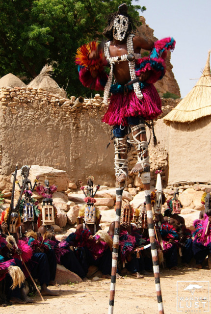 Stilted Mask Dance in Dogon Country, Mali